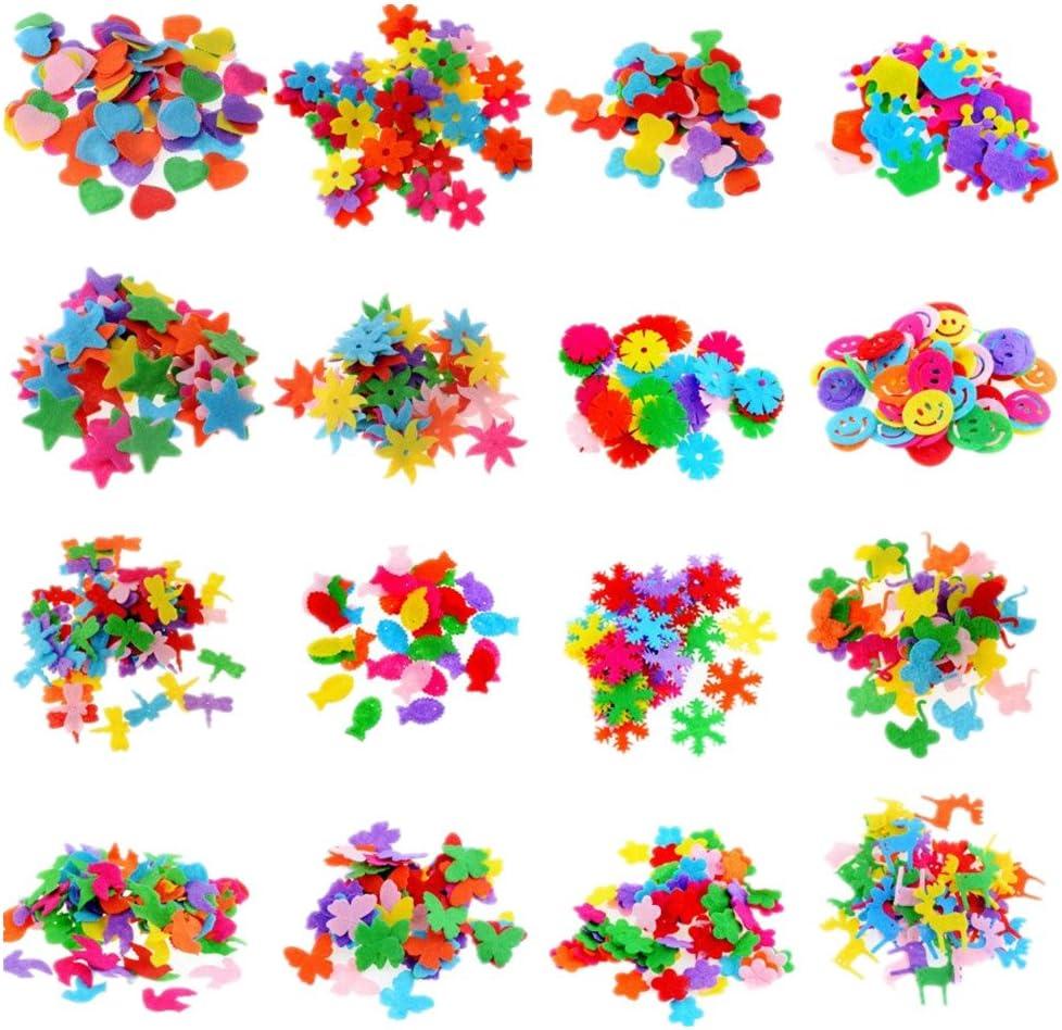 Zhiheng Assorted Color 100pcs Felt Patch Applique Felt Scrap-booking Non-woven Stickers Sew on Applique Felt Pads for DIY Craft Making Sewing Handcraft Decoration Bow