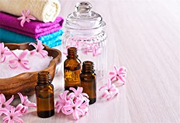 Amazon Com Csfoto 6x4ft Background For Spa Aromatic Oil Beauty Spa Photography Backdrop Relax Oil Bottle Aromatherapy Wellness Fresh Flower Health Female Beauty Salon Photo Studio Props Polyester Wallpaper Camera