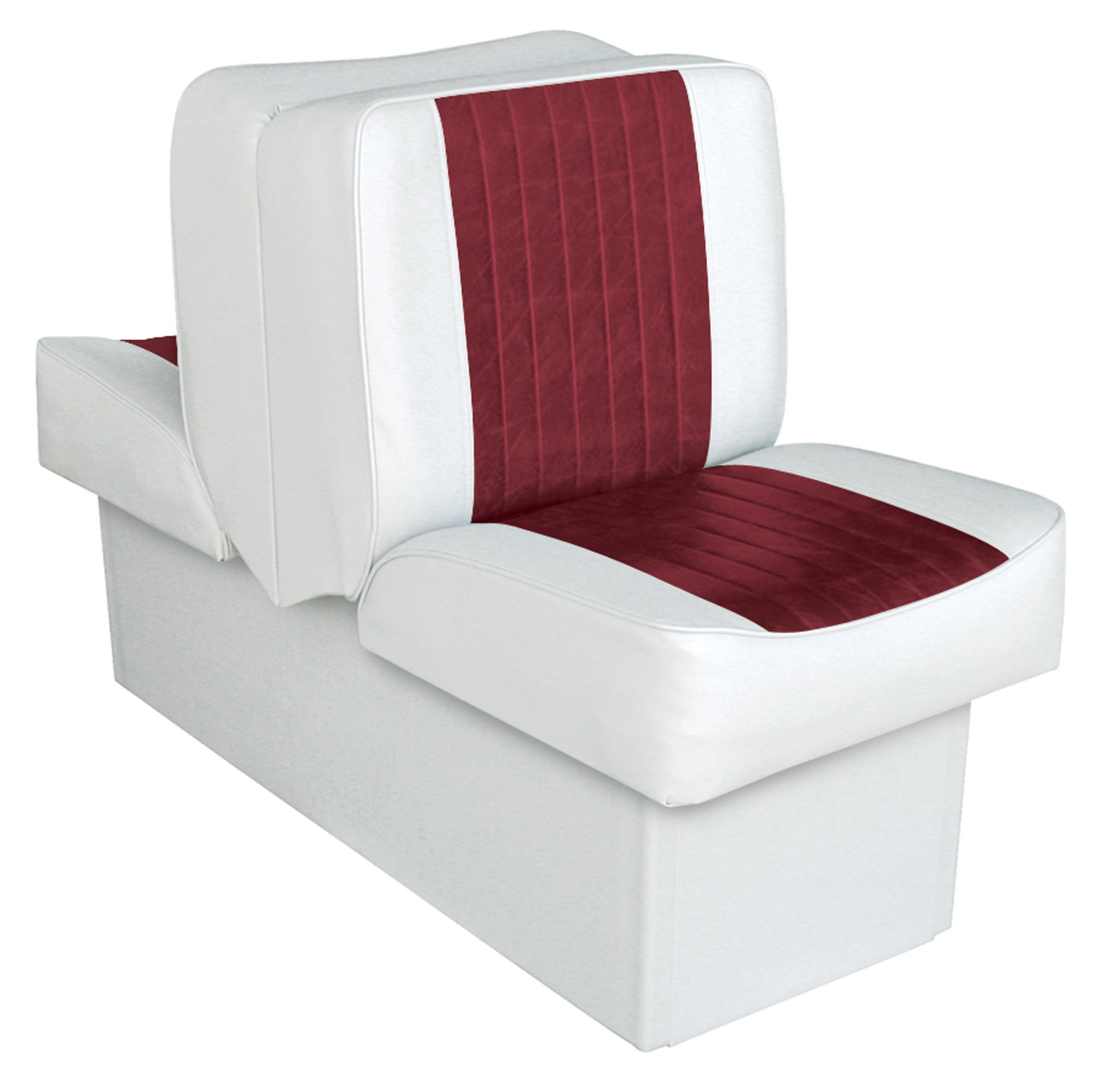 Wise 8WD707P-1-925 Deluxe Lounge Seat (White/Red) by Wise