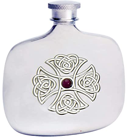 Amazon.com: 4oz Botella Flask Cruz Celta de amatista piedra ...