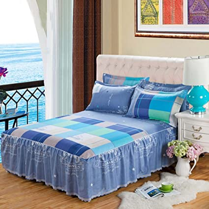 Amazon Com Nattey Bedding Fitted Sheet Bed Skirt Valance Twin