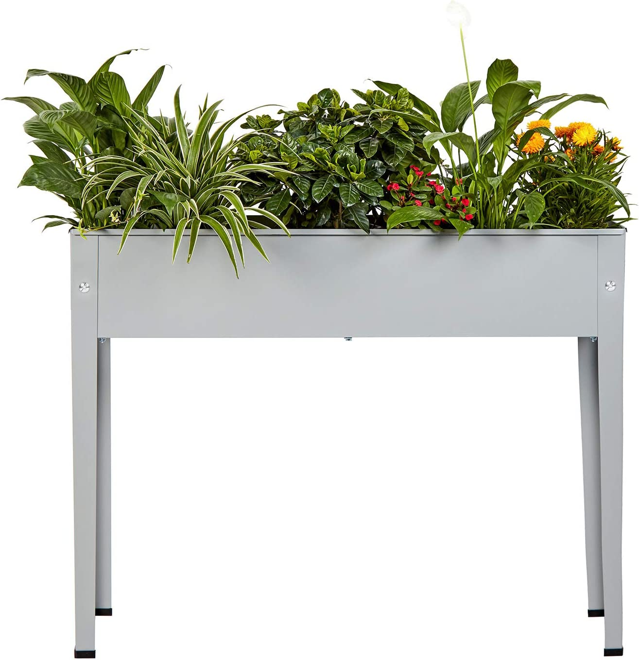 Raised Metal Garden Planter Bed,Garden Planter Box,Planting Container with Legs Suitable for Outdoor Patio Planting Herbs and Vegetables (Standard)