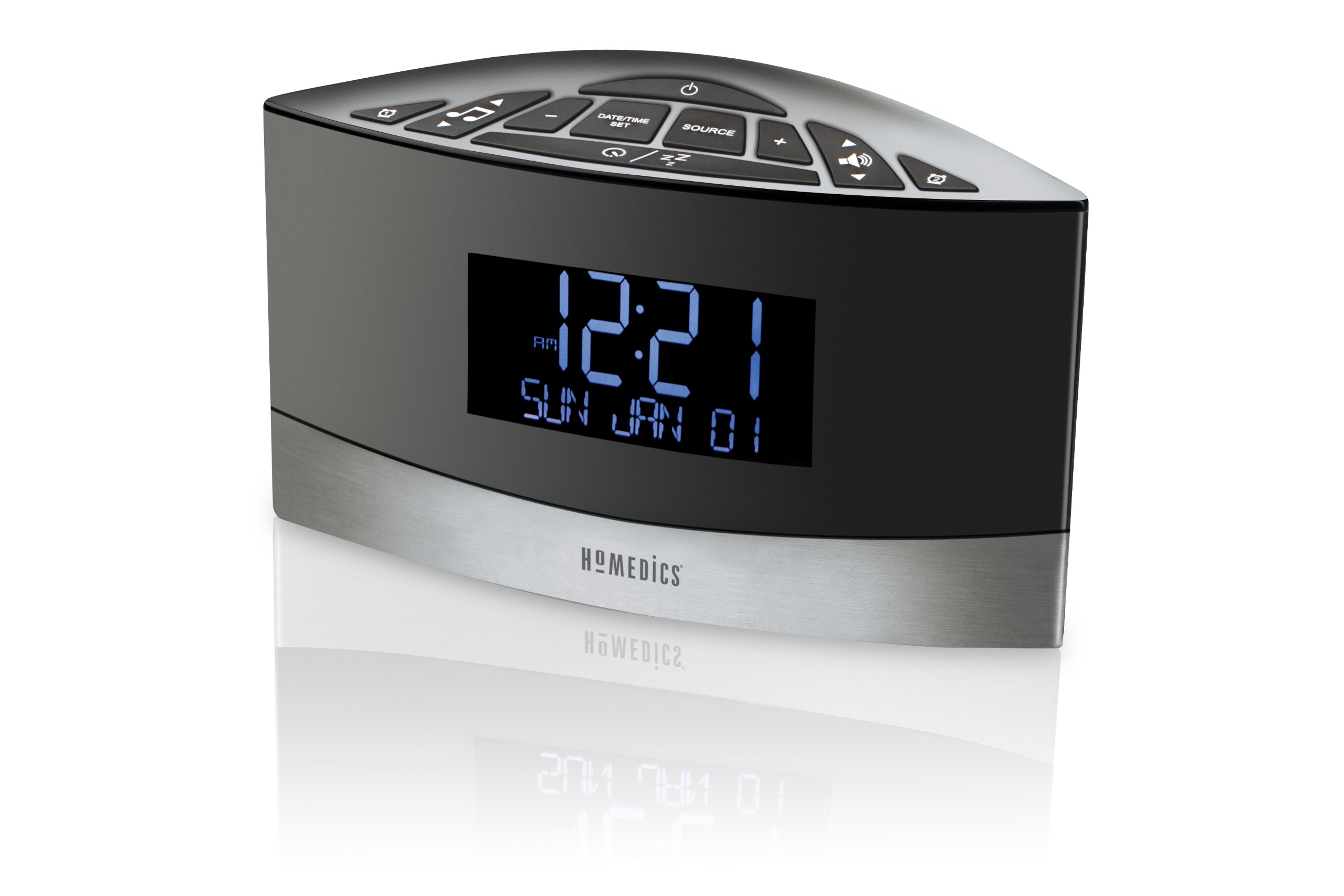 Homedics SS-5020 Sound Spa Premier FM Clock Radio with 20 Relaxation Sounds by Homedics