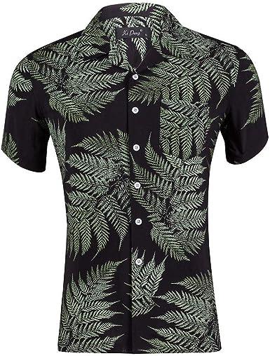 Traje De Verano Cuello Seda AlgodóN Estampado Casual Playa Hawaiana Camisa Hombres: Amazon.es: Ropa y accesorios