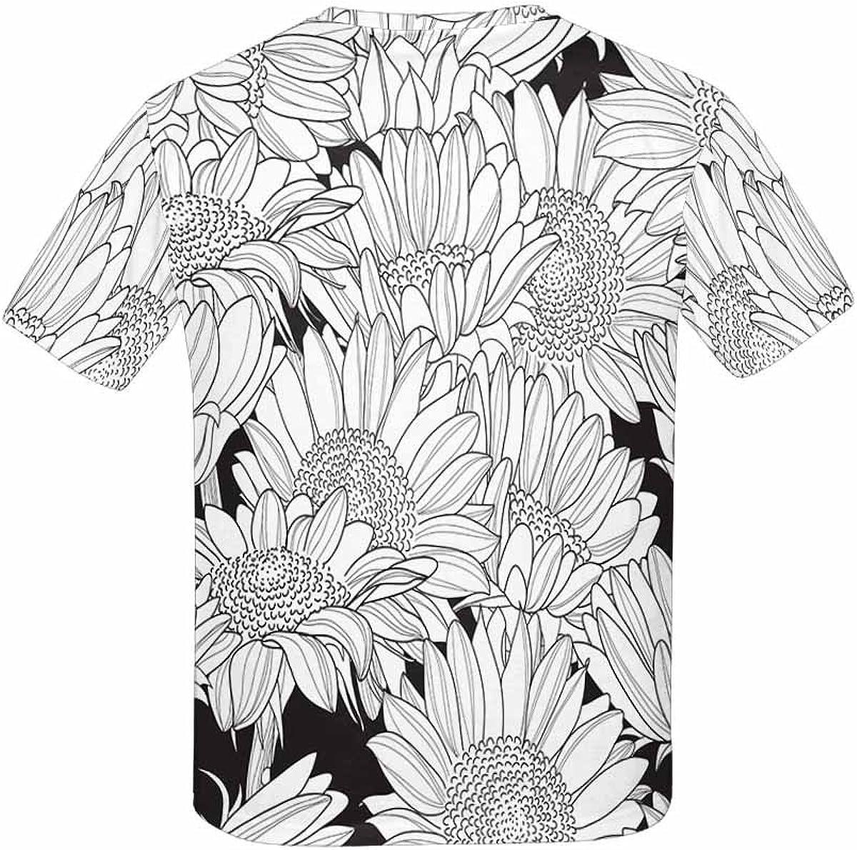 INTERESTPRINT Kids T-Shirts Sunflowers XS-XL
