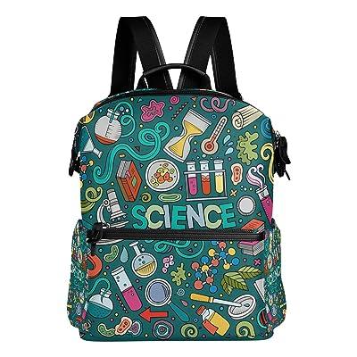 La Random Science Doodles Custom Backpack School Bag Large Travel Daypack