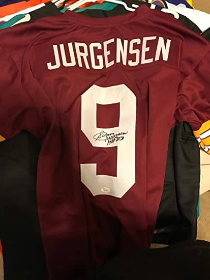 820c3e86d Sonny Jurgensen HOF 83 Authentic Autographed Signed Washington Redskins  Jersey Memorabilia - JSA Authentic