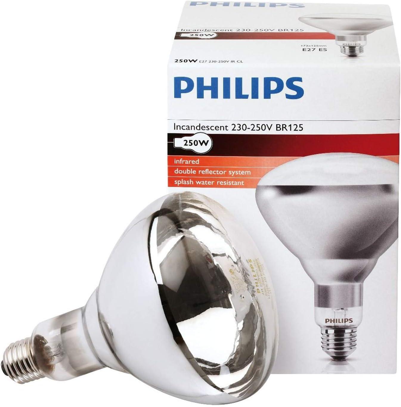Philips Infrarotstrahler Industrial Heat BR125 Rot Wärmelampe E27-150W