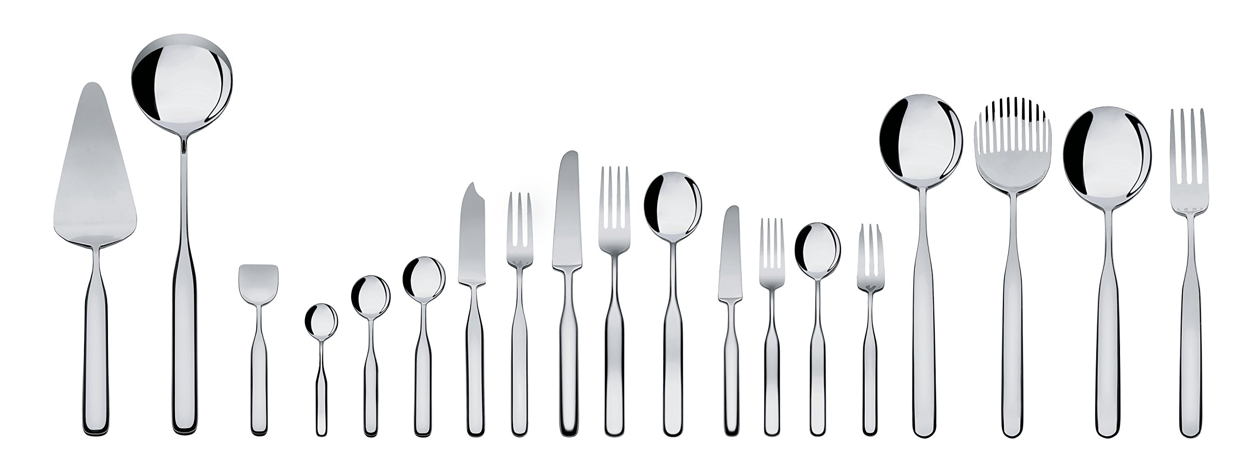 Alessi ''Collo-alto'' Table Knives in Steel Aisi 420 Mirror Polished (Set of 6), Silver by Alessi (Image #3)
