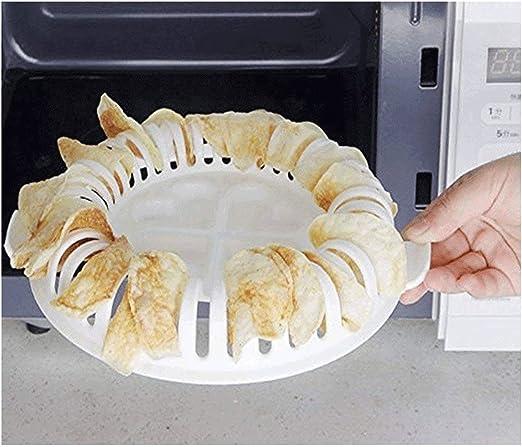 Popowbe - Bandeja de horno para microondas sin grasa para patatas ...
