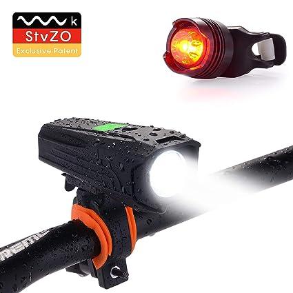 10 Stücke LED Fahrrad Licht Set Frontlicht Rücklicht Silikon Fahrradlampe DE