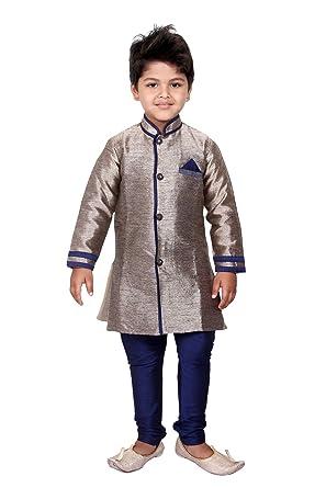 Sherwani Suit For Boys With Pyjama And Pant Indian Dress Wedding