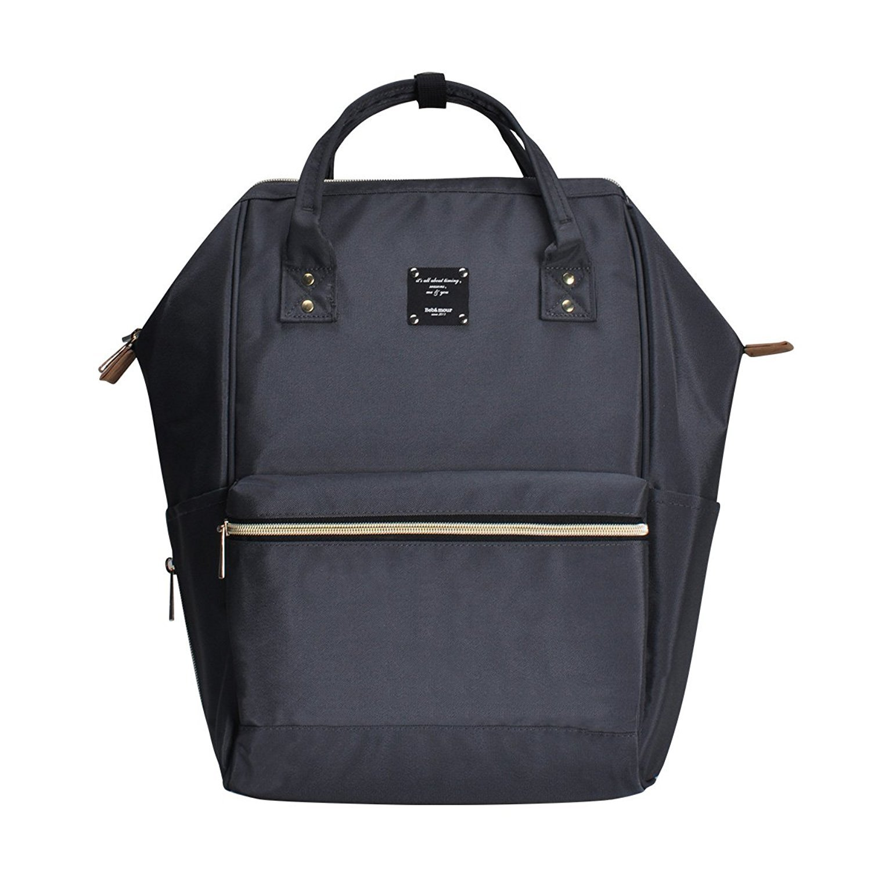BebamourCasual College Backpack Lightweight Travel Wide Open Backpack for Women&Men,Grey