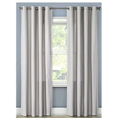 Threshold Natural Textured Solid Curtain Panel  Sea Gull  54 x 84
