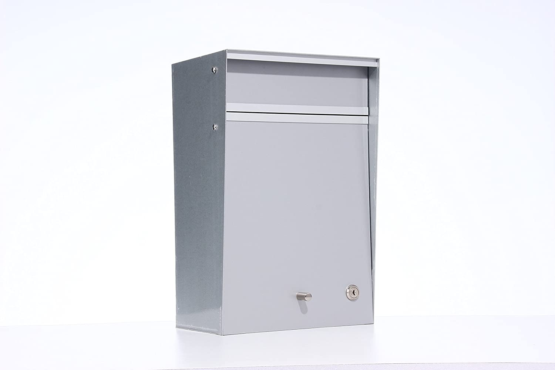 Box Design ポスト 郵便受け Wall Mounted  Silver B00W6HVS6U 28080 Silver Silver