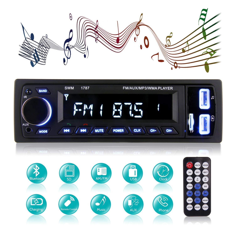 Bluetooth Car Stereo, MEKUULA Car Radio Stereo Video FM Radio 4x60W Station, 1 DIN Car Radio Audio USB/SD / MP3 Player Bluetooth Receiver Handsfree Remote Control