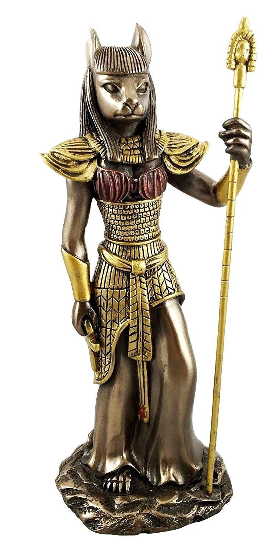 Antiguo Egipto tema gatos diosa Bastet ubasti gato forma humana figura Premium Home D? cor, histórico D? cor, belleza Estatua, Full Color, ...