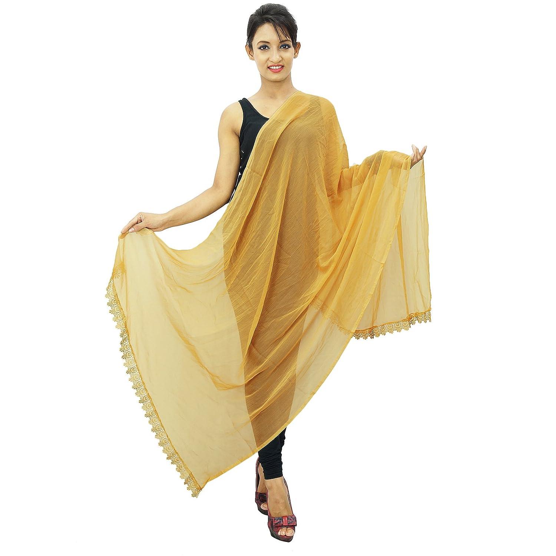 Neck Wrap Long Stole Chiffon Blend Dupatta Women Wear Indian Scarves Chunni ibaexports