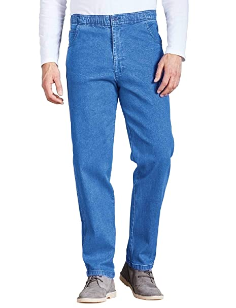 Pantalones Vaqueros con Cintura Elástica con Cordón, para Hombre