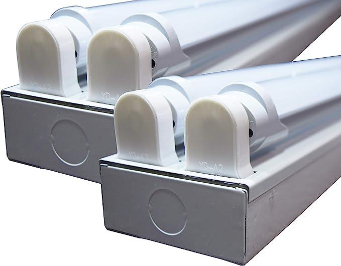 4 LED Tubes 6500K Orilis 8/' 96W Commercial Hardwired Ceiling Fixture New!!