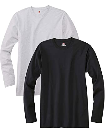 Hanes Men S Long Sleeve Premium T Shirt Pack Of 2 Amazon Ca