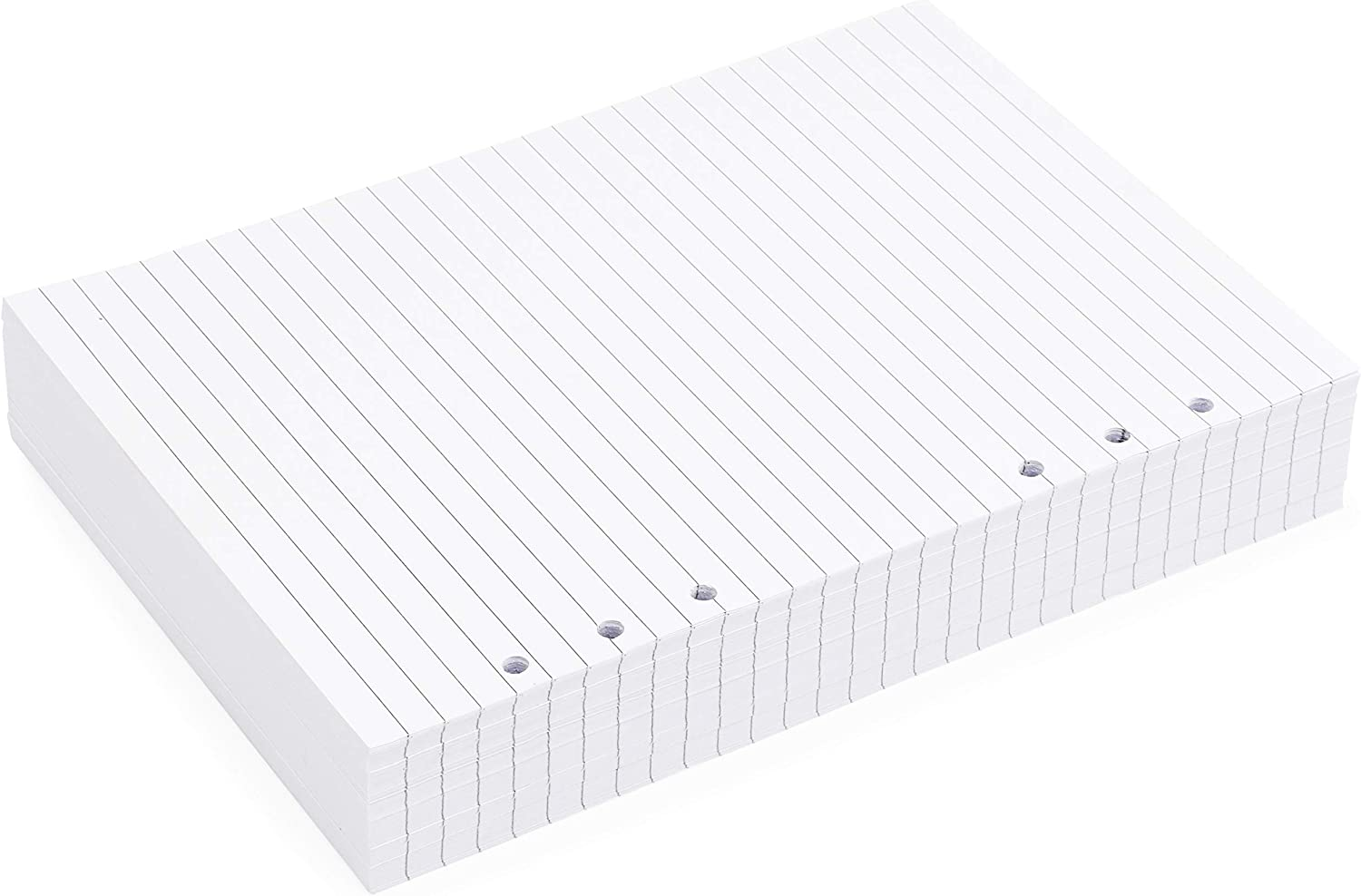 Paper Junkie Lined Filler Paper 6 Hole Punch, A5, White, Pack of 250