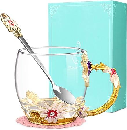 Wine Glass Butterfly Flowers  *** CHECK DESCRIPTION***
