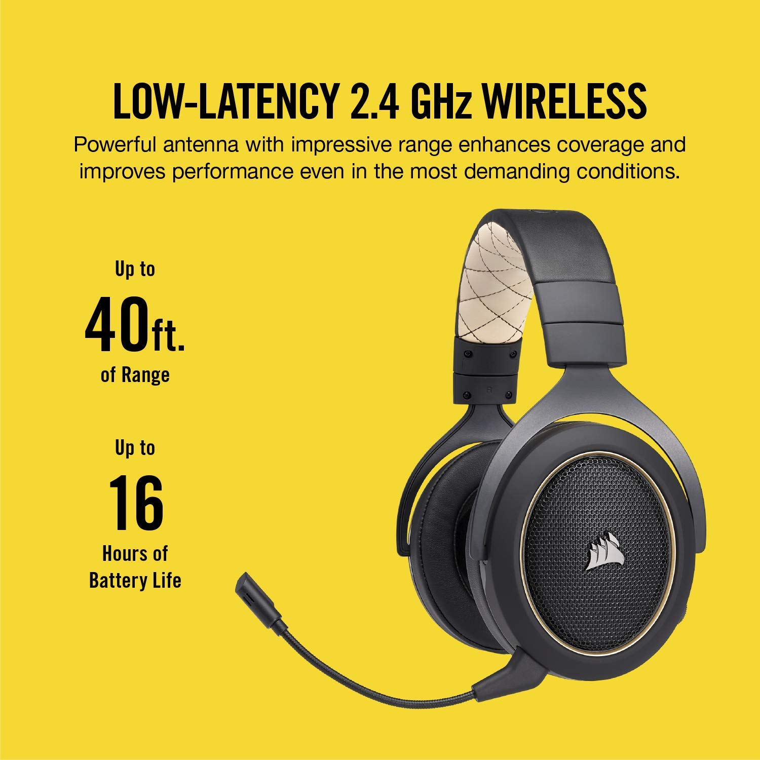 CORSAIR HS70 SE Wireless - 7.1 Surround Sound Gaming Headset - Discord Certified Headphones - Special Edition by Corsair (Image #4)