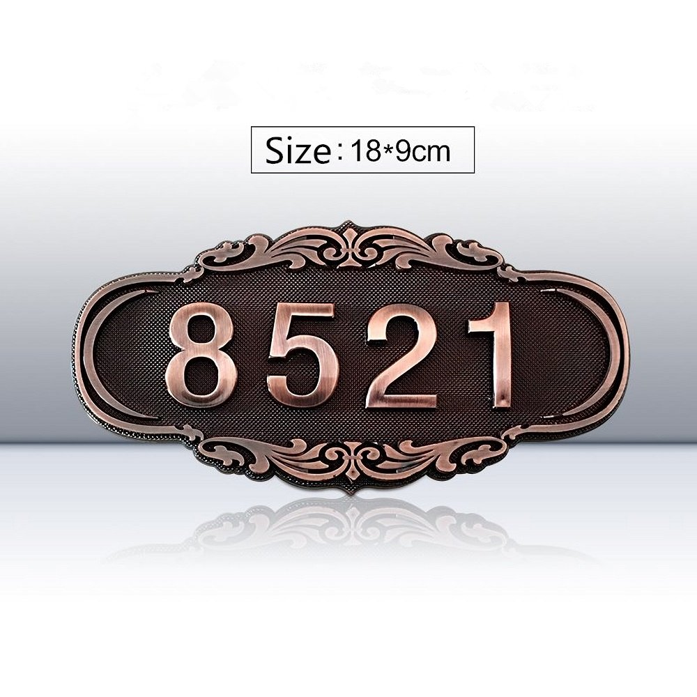 Damofy Custom home address signs brand hotel room apartment room vintage plaque embossed door logo