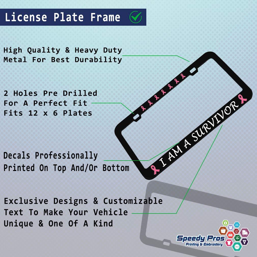 Bulldog Dog Mom Chrome Metal License Plate Frame Tag Border