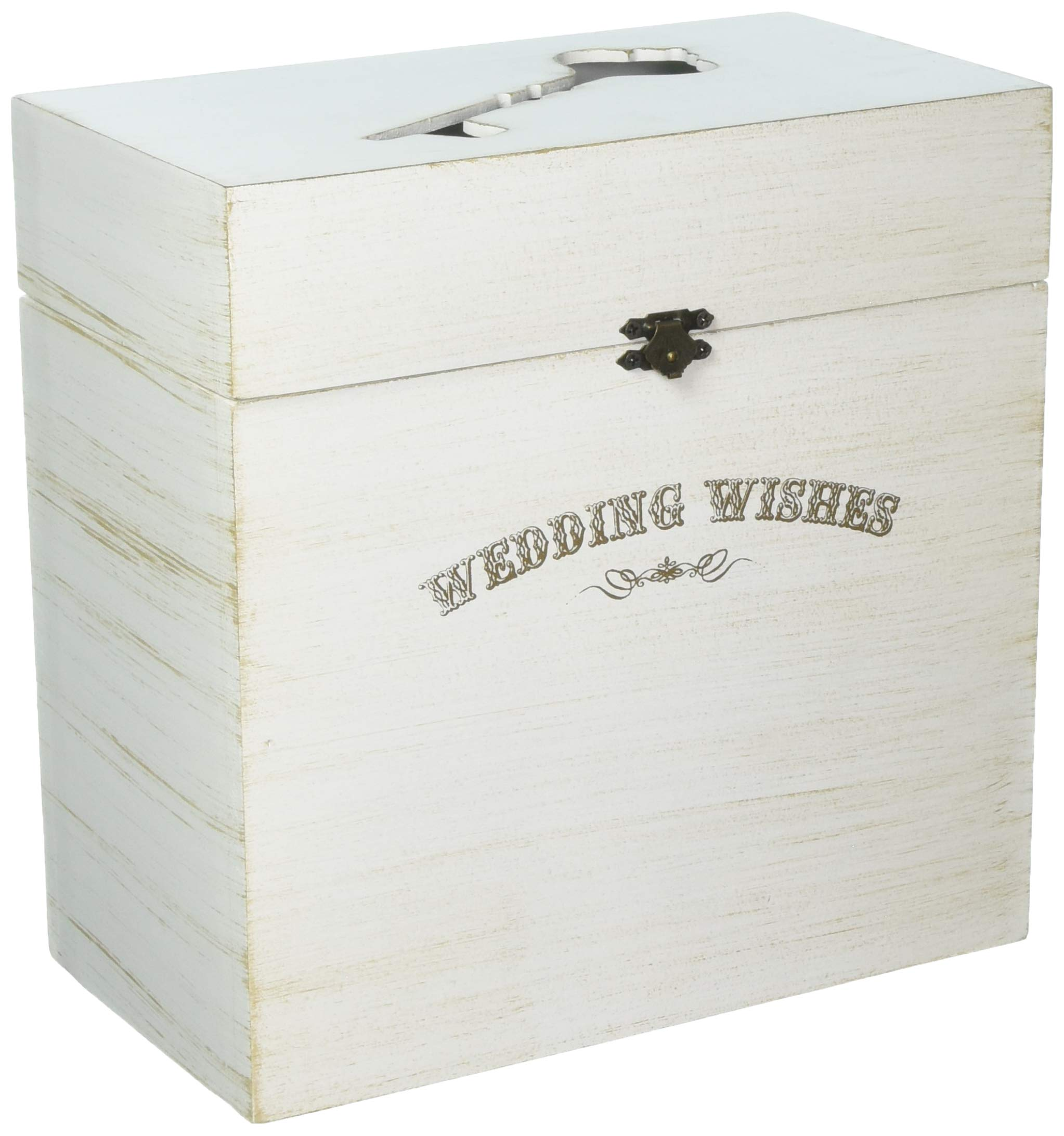Lillian Rose Wedding Wishes Wooden Key Card Box by Lillian Rose