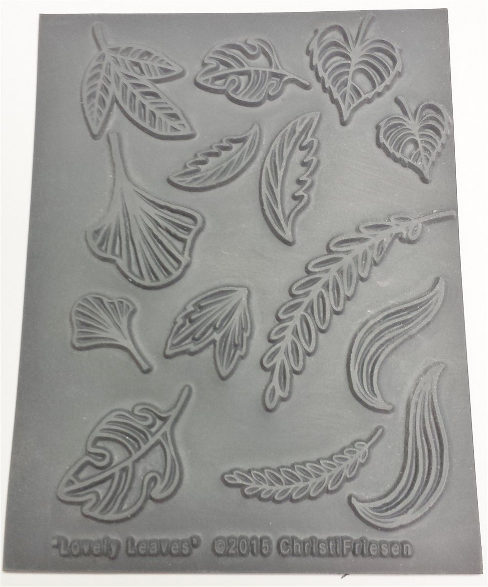 Lovely Leaves Texture Stamp The Great Create