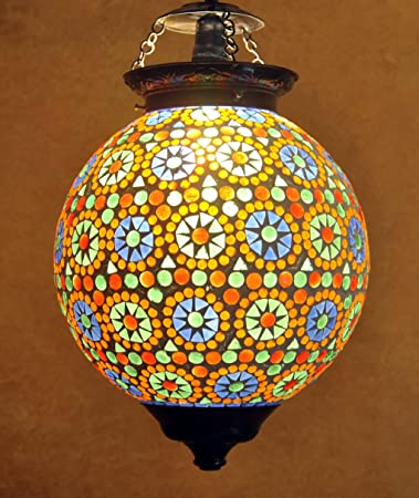 Amazon home decorative indian pendant ceiling light vintage home decorative indian pendant ceiling light vintage hanging lamp shade glass aloadofball Image collections