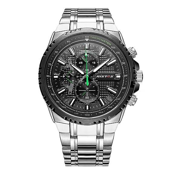 Longbo Reloj de cuarzo para hombre con gran esfera, informal, moderno, para ejecutivos: Amazon.es: Relojes