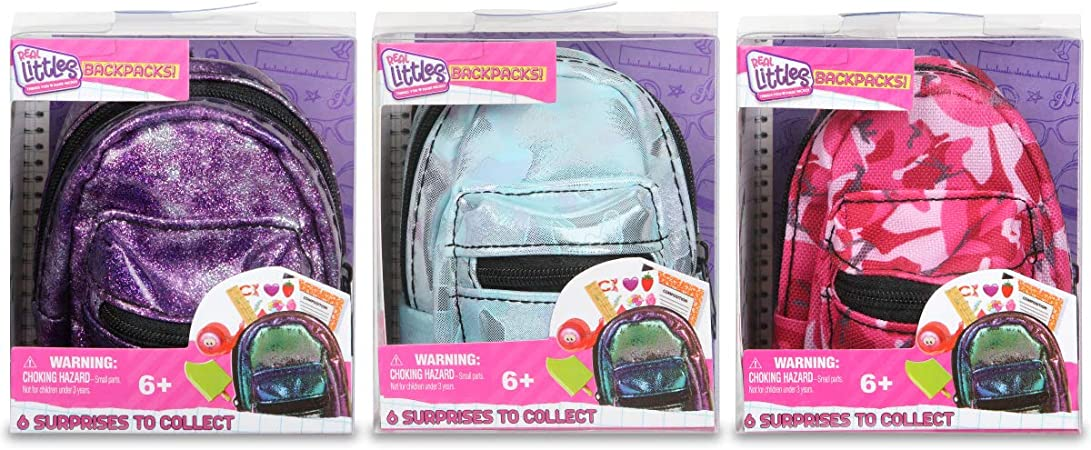 Tie Dye Real Littles Backpack Mystery Pack with 6 Surprises Inside