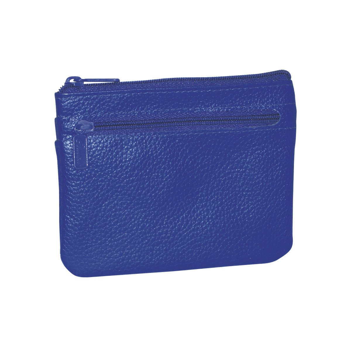 Buxton Womens Leather ID Coin Card Case Wallet, Ultramarine Blue