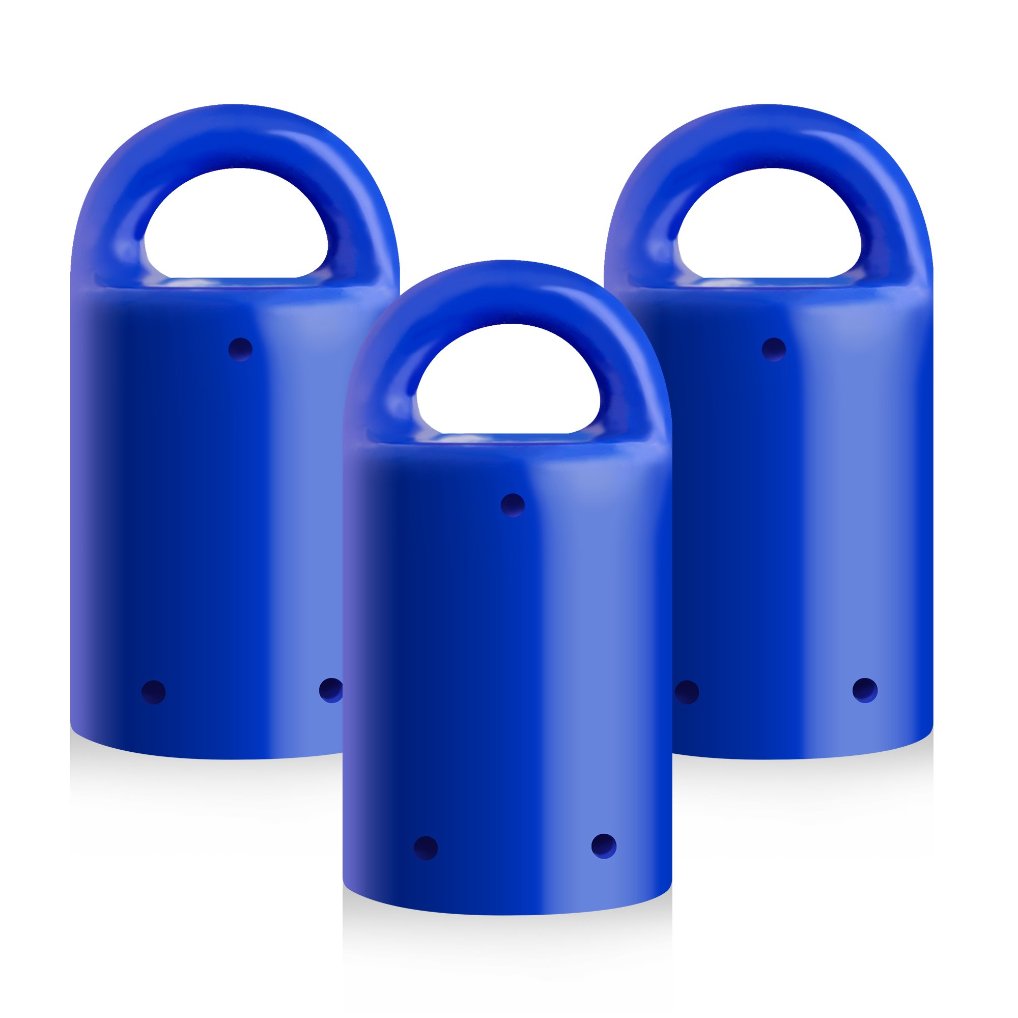 MagnetPal 3 pack Heavy-Duty Neodymium Anti-Rust Magnet, Best for Magnetic Stud Finder/Key Organizer/Indoor and Outdoor Multi Uses, Blue with Key Ring (SP-MPM3BL)