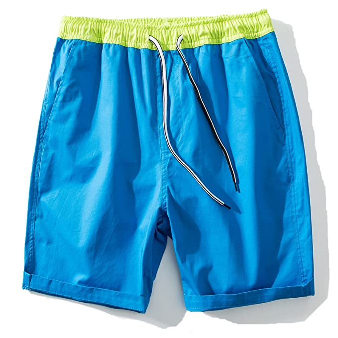 Mens Shorts Casual Classic Fit Drawstring Summer Beach Shorts with Elastic Waist Casual Classic Fit Short
