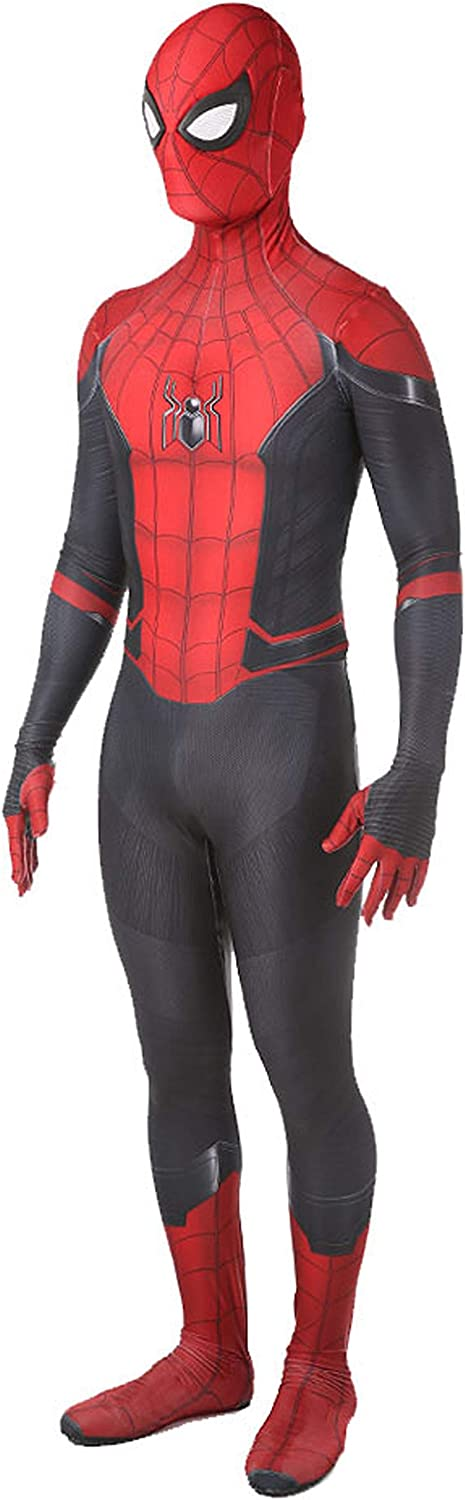 McMiller Far from Home Spider Man Costumes Adult Kids Unisex Lycra Halloween Cosplay Suit