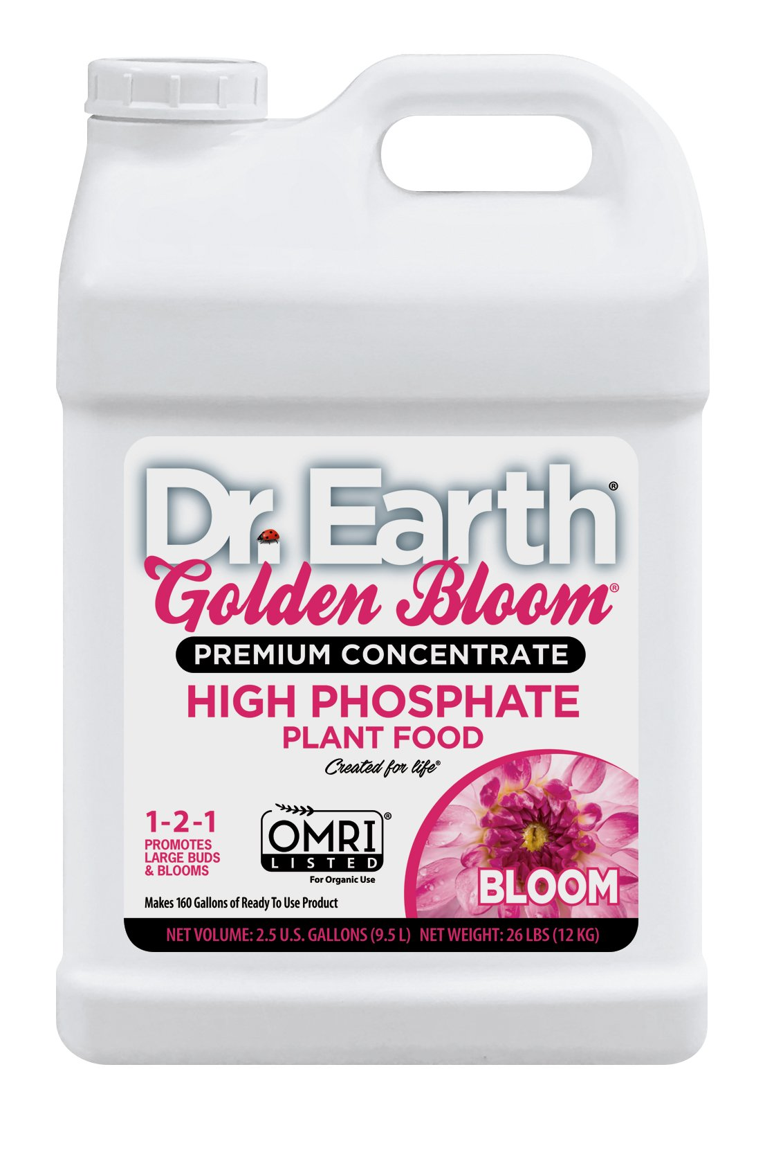 Dr. Earth Golden Bloom High Phosphate Plant Food 2.5 Gallon by Dr. Earth