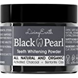 Black Pearl Activated Charcoal Teeth Whitening - Organic & All Natural - Remineralizing Tooth Powder - Anti-Bacterial - Made In USA - 2 oz...