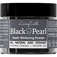 Black Pearl Activated Charcoal Teeth Whitening Toothpaste - Organic Coconut Charcoal - Freshens.