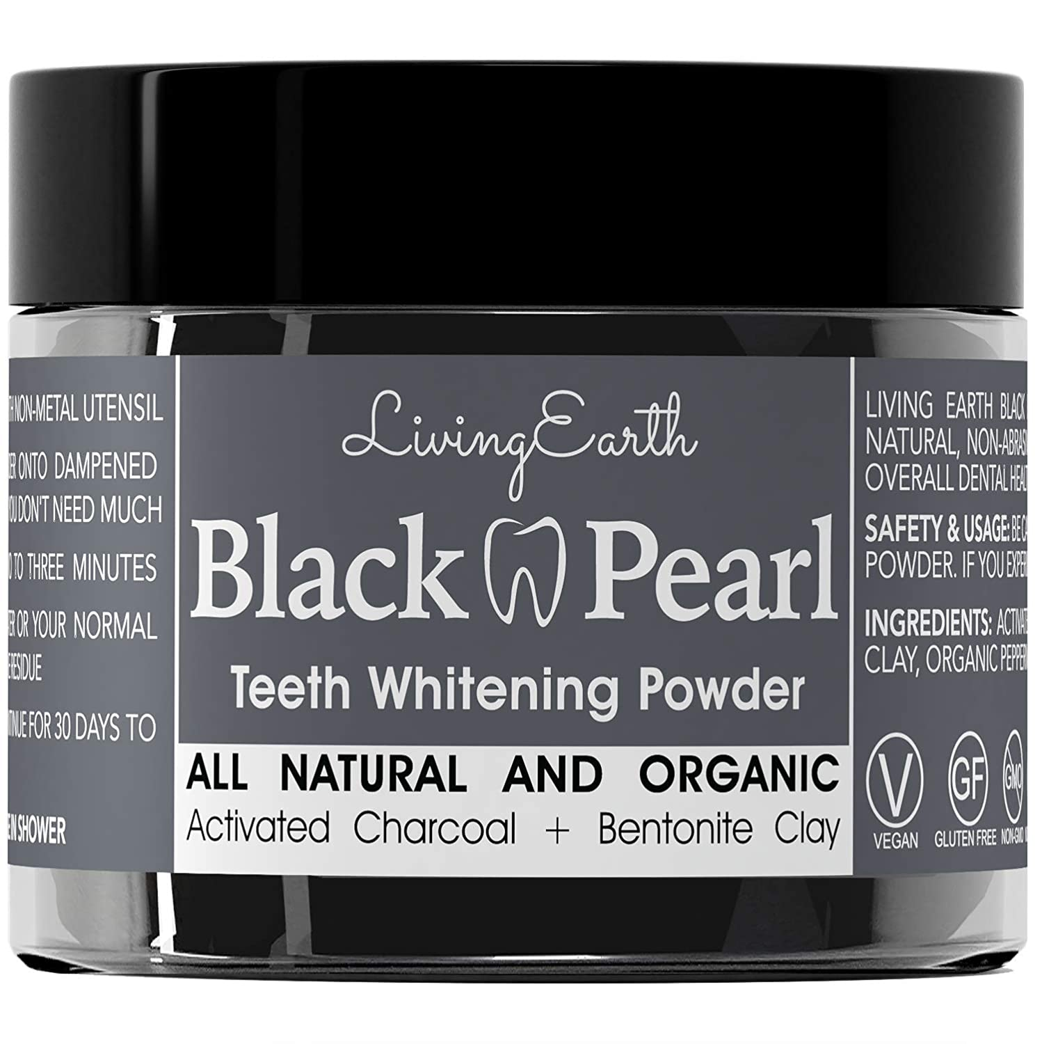 Amazon Com Black Pearl Activated Charcoal Teeth Whitening