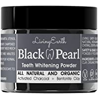 Black Pearl Activated Charcoal Teeth Whitening Toothpaste - Organic Coconut Charcoal...