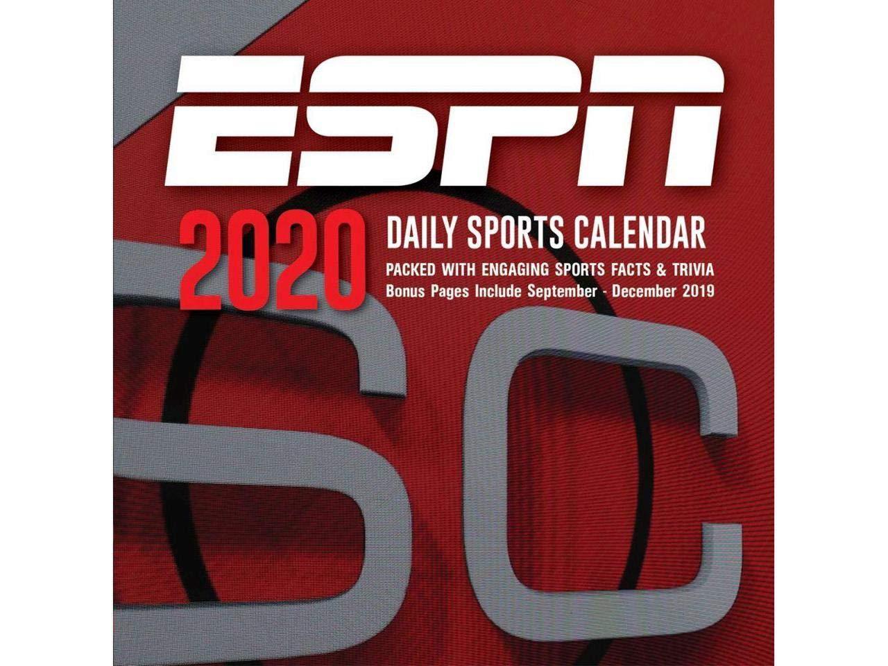 20998051489 TURNER LICENSING ESPN 2020 Box Calendar