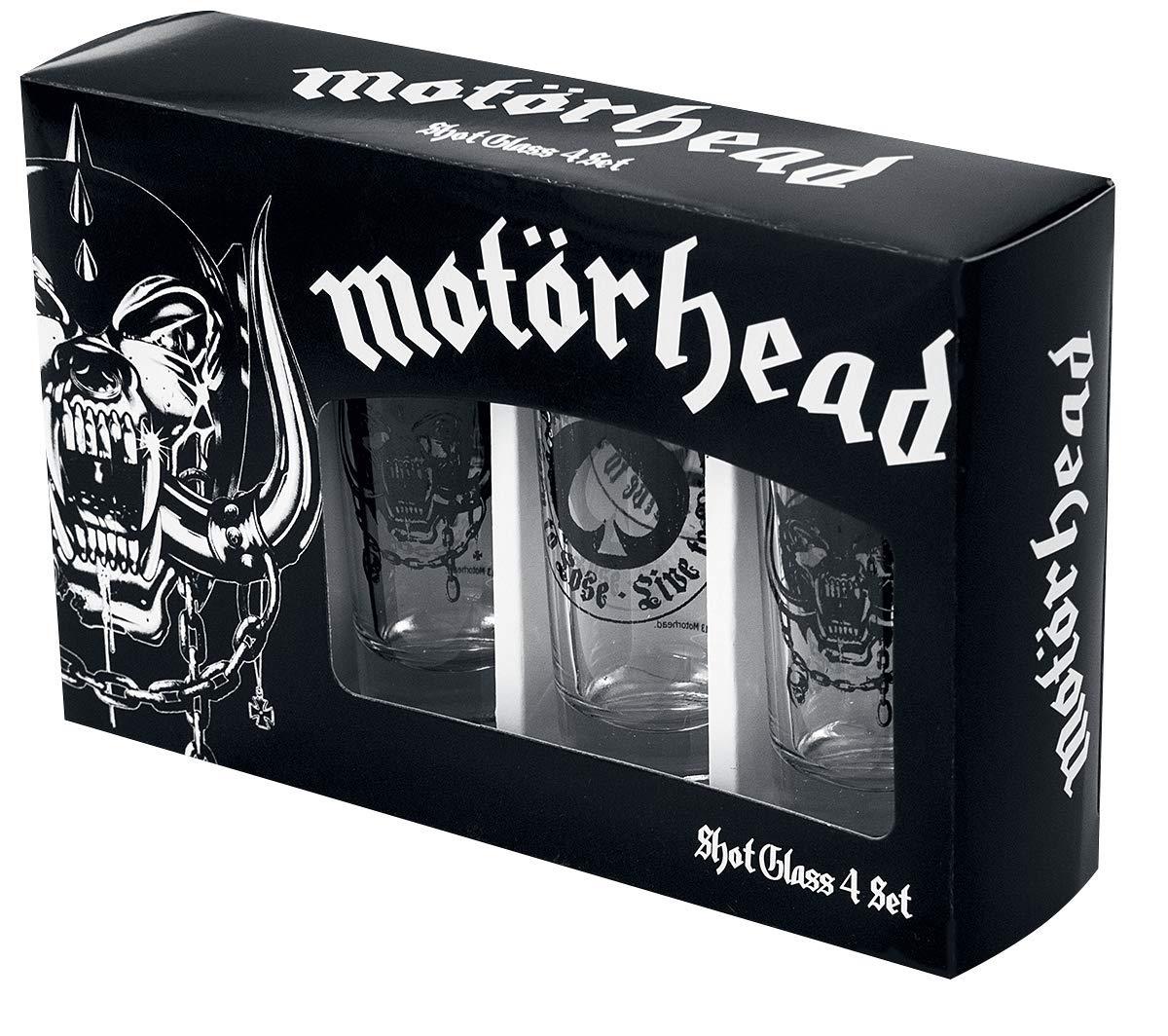 Motörhead Schnapsgläser, Glas, transparent, 4 x 4 x 10.5 cm ...