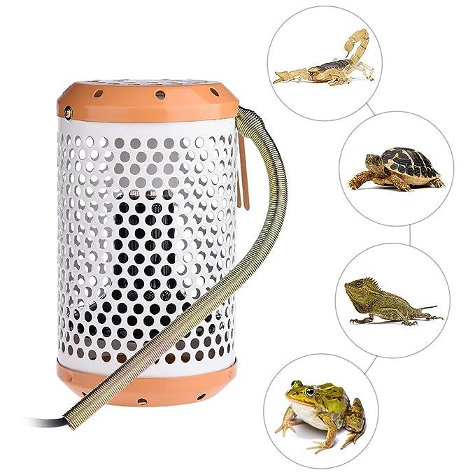 yunt cerámica CALOR lámpara Reptile Bree Ding lámpara Estufa térmica de Spot bombilla para animales Terrario AC220 V 40 W/100 W: Amazon.es: Productos para ...
