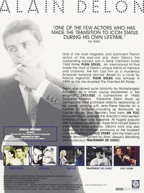 7813f7d8b30 Amazon.com  Alain Delon Collection - 5-DVD Box Set ( Plein soleil    L eclisse   Un flic   Traitement de choc   Flic Story ) ( Purple Noon    Eclipse   A Cop ...
