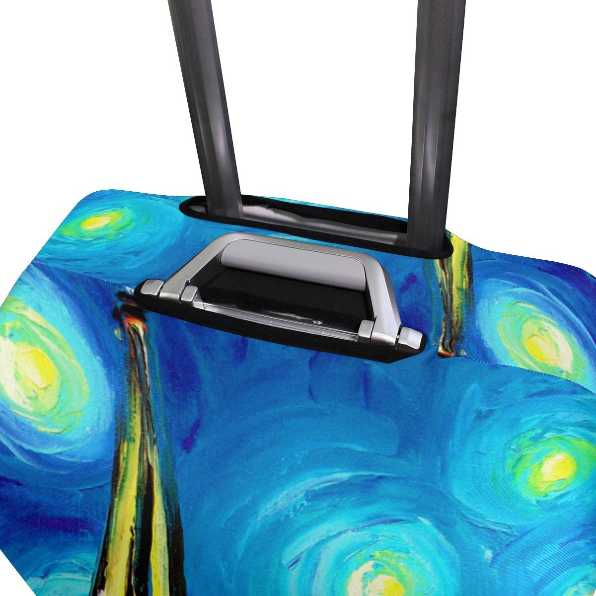 FOLPPLY Oil Painting Paris Eiffel Tower Luggage Cover Baggage Suitcase Travel Protector Fit for 18-32 Inch