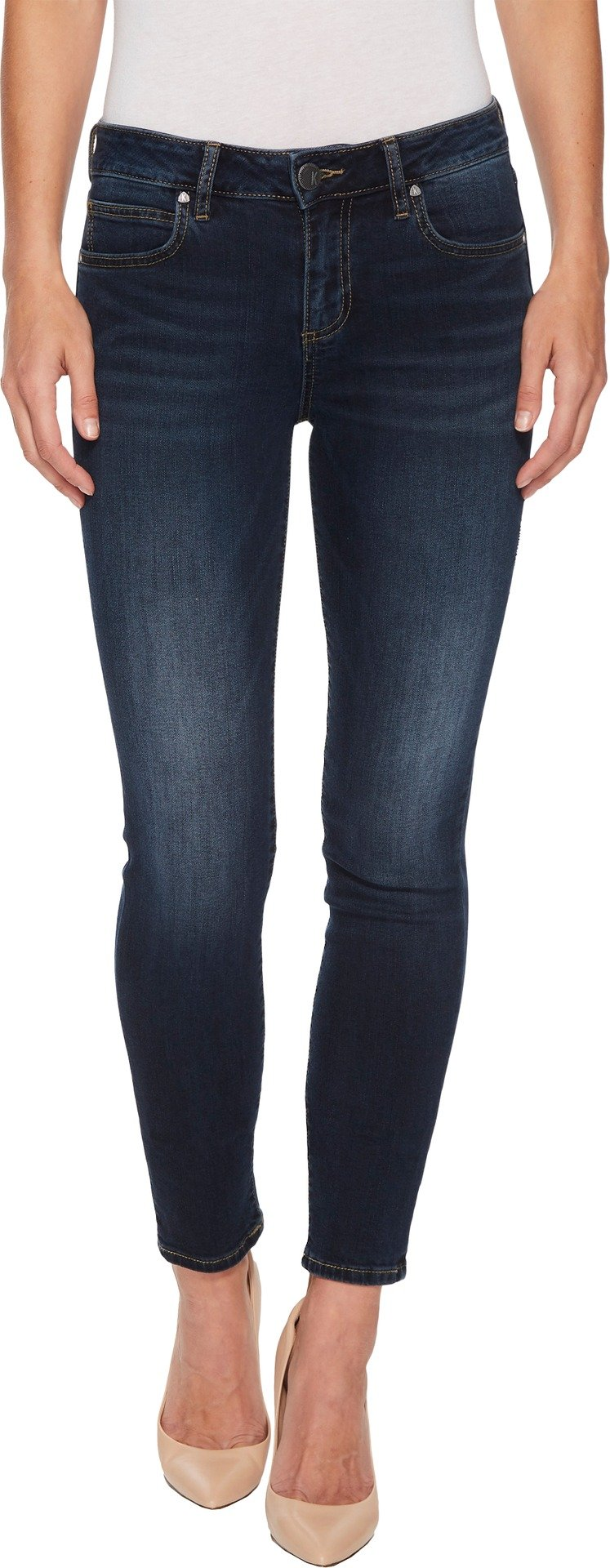 KUT from the Kloth Women's Diana Kurvy Skinny In Likable Likable/Dark Stone Base Wash 8